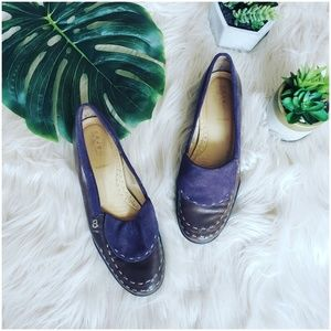 { anthropologie } foldover leather loafers